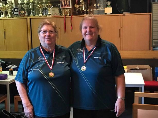 Josephine en Christiane voor vijftiende keer kampioen tafeltennis