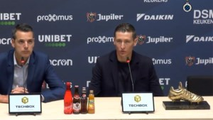 Herbeleef hier de persconferentie van Gouden Schoen Hans Vanaken