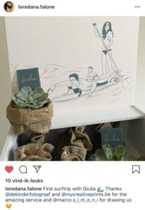 Marco Simoni tekent geboortekaartje van Matteo's dochter