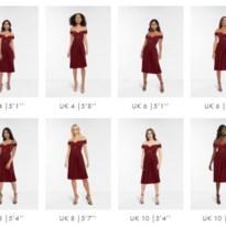 Asos toont dezelfde jurk zestien keer