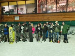 Leerlingen Biotechnicum snowboarden na school