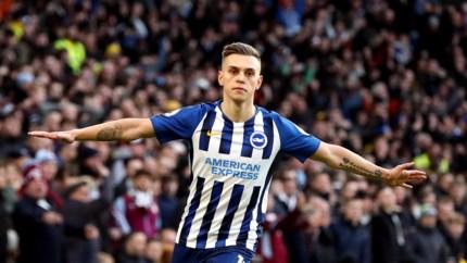 Manchester City laat punten liggen, Trossard scoort voor Brighton