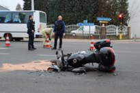 Motorrijder gewond bij botsing