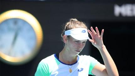 Australian Open nu helemaal voorbij voor Elise Mertens