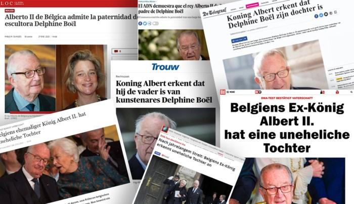 Bekentenis van koning Albert haalt ook in buitenlandse media krantenkoppen