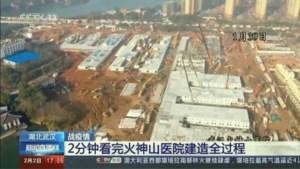 Indrukwekkende timelapse toont hoe Chinezen een ziekenhuis in recordtempo bouwen