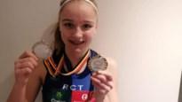Laure Mondelaers mag na één wedstrijd met twee medailles naar huis