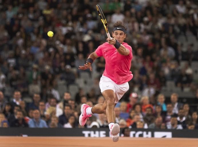 Roger Federer en Rafael Nadal krijgen recordaantal toeschouwers bijeen in wedstrijd voor goede doel