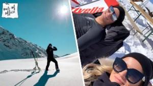Mathieu van der Poel geniet van de sneeuw