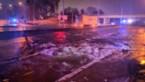 Westerring in Genk volledig onder water door gesprongen waterleiding