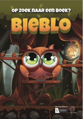 Bieblo voor kinderen op zoek naar een boek