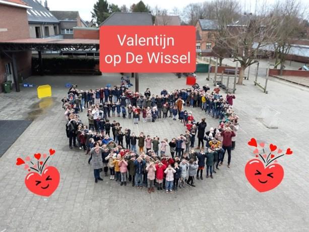 Valentijn in de vrije basisschool De Wissel in Neeroeteren