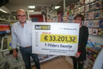 Kuringenaar zet 2 euro in op voetbalmatchen en wint er 33.000