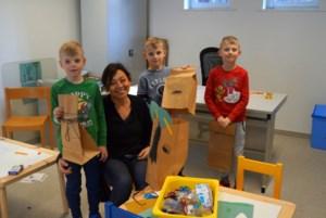 Martine Kindermans leest creatief voor in bib