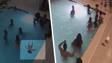 Jongetje (2) dreigt te verdrinken in zwembad van hotel, maar alerte reactie van meisje redt zijn leven