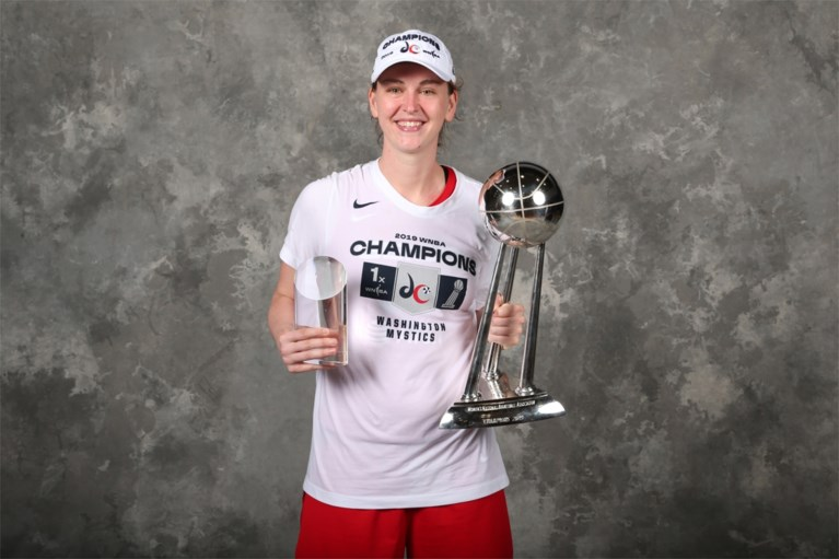 Emma Meesseman speelt een zevende seizoen voor Washington Mystics