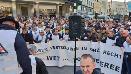 Zeshonderd mijnwerkers manifesteren in Brussel om pensioenen recht te trekken