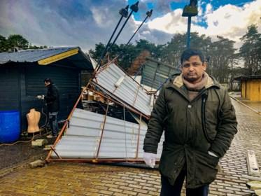 Storm Dennis doet kraam de lucht in vliegen op Zwarte Markt in Tessenderlo