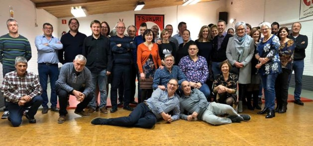 Vrijwilligers Judoclub Tsukuri Veldwezelt vzw vieren feest