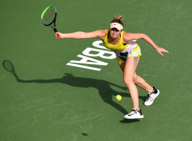 Tweevoudig kampioene Elina Svitolina krijgt een bolwassing in Dubai