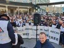 Zeshonderd mijnwerkersmanifesteren in Brussel
