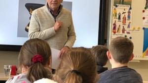 Auteur Ludo Driesen op bezoek in basisschool De Puzzel