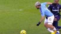 Agüero mist grote kans nadat verdediger in zijn kruis grijpt, assist en goal van De Bruyne
