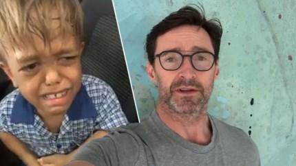Beroemde acteur Hugh Jackman steekt gepest jongetje (9) een hart onder de riem