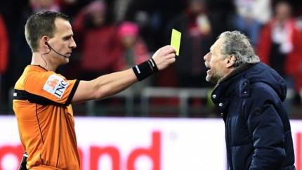 Michel Preud'homme heeft primeur beet: Standard-trainer eerste trainer die geel geschorst is