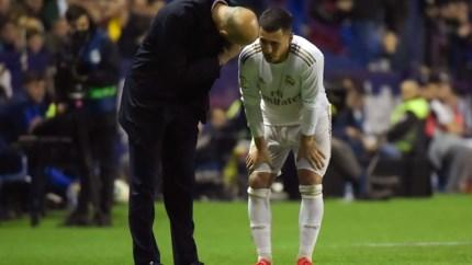 Drama voor Real Madrid: verlies van Levante én Hazard weer uit met blessure