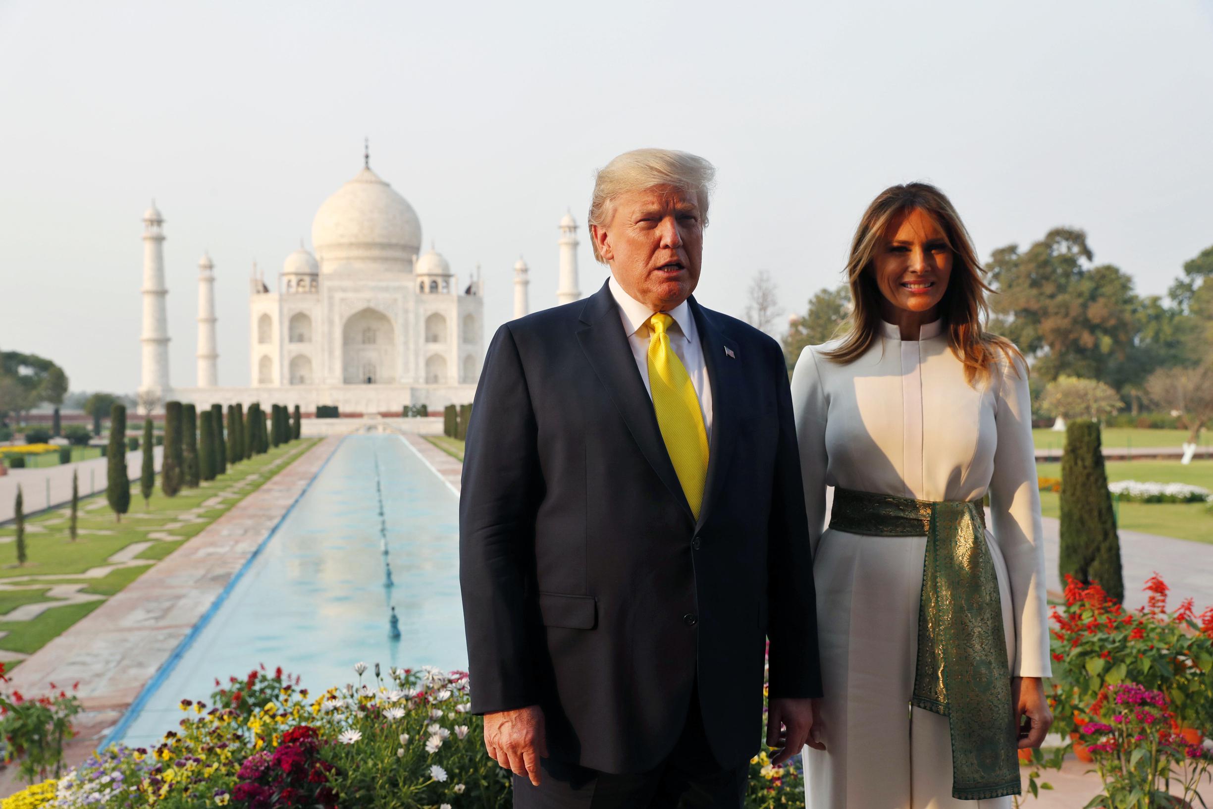 Wanklanken bij Trumps Indiase triomftocht