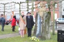 Koning Albert I herdacht aan het monument