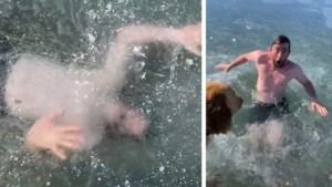 Akelig: Tiktok-ster kijkt dood in de ogen als stunt onder ijs misgaat