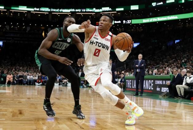 Russell Westbrook loodst Houston Rockets naar zege tegen Celtics