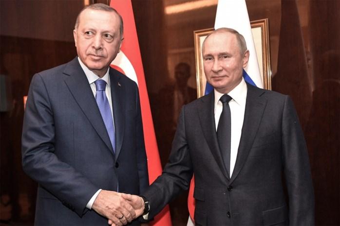 Erdogan hoopt met Poetin tot staakt-het-vuren te komen