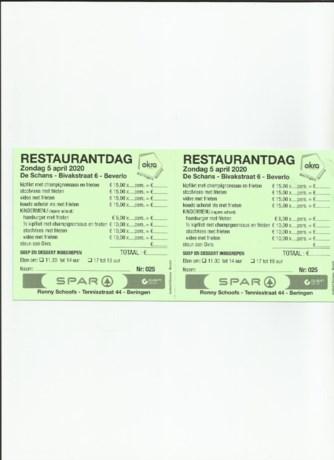 Restaurantdag Okra Beringen Noord afgelast
