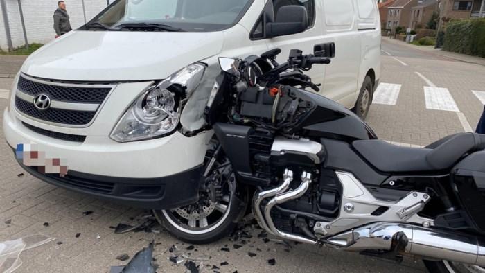 Motorrijder gewond bij ongeval op Koninksemsteenweg