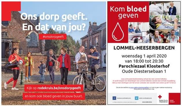 Bloedinzameling van 1 april vindt plaats in het Klosterhof