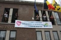 Bocholt steunt en bedankt inwoners met banner