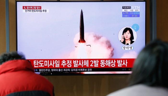 Noord-Korea lanceert opnieuw twee raketten