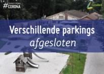 Verschillende parkings afgesloten