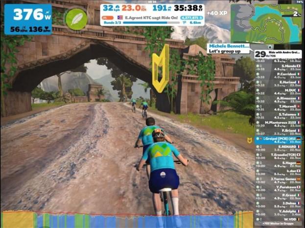 Kan wielrennen zich heruitvinden als e-sport? Renners rijden massaal op Zwift