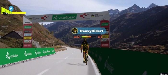 Primeur: Ronde van Zwitserland laat profs virtuele koers rijden