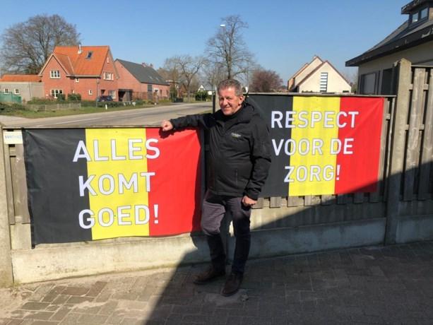 Lommels bedrijf verspreidt Belgische vlaggen met hoopvolle boodschappen