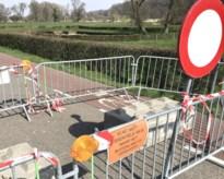 Afgesloten grensovergang in Kanne vernield