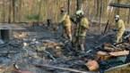 Chalet gaat volledig in vlammen op in Grote-Brogel