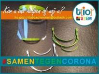 Leerkrachten TIO maken gezichtsbeschermers