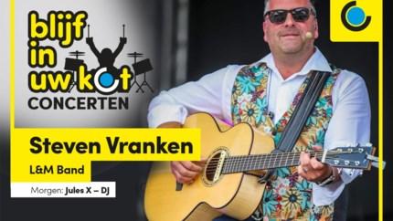 Bekijk hier het 'Blijf in uw kot-concert' van Steven Vranken van de L&M-Band
