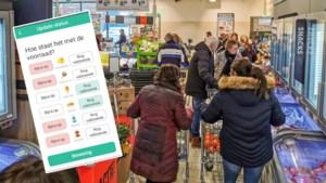 Vlaamse 'Waze voor winkelen' toont hoe druk het is in supermarkt