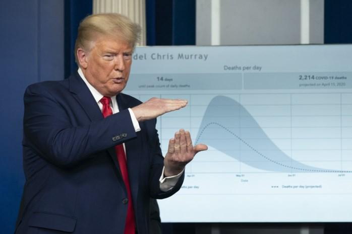 """Trump waarschuwt voor """"zeer pijnlijke twee weken"""", experts voorspellen 240.000 doden"""